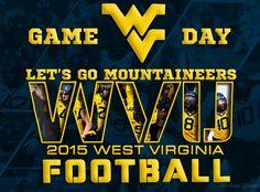 2015 WVU Football Game Day - Let's Gooooooo MOUNTAINEERS!! Wvu Football Game, Mountaineers Football, Football Season, Pittsburgh Steelers Wallpaper, Wvu Sports, Marriage Prayer, West Virginia University, Take Me Home, Party Entertainment