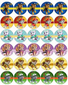 Paw Patrol V4 Papel De Oblea Comestible Toppers Cupcake Pastel Mollete Paw Patrol Party, Paw Patrol Birthday, Cupcake Toppers, Cupcake Cakes, Cumple Paw Patrol, Pastel Cupcakes, Bottle Cap Jewelry, Bottle Cap Images, Wafer Paper