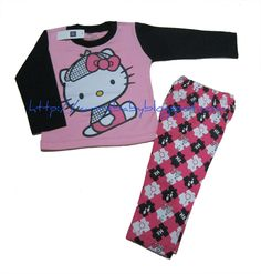 Baby Detective Hello Kitty Pajamas    Item Code: PJ0005S  Size (Age): F  (2 years)  Color: Hot Pink, Dark Pink     Price: $10