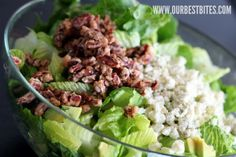 Pear & Blue Cheese Salad w/ Candied Pecans  (Our Best Bites)