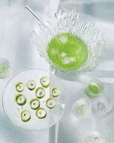 Fabulous French Appetizer Recipes That Bring the Bistro Home - Hollowed-out cucumbers become impressive vessels for creamy chilled soup.