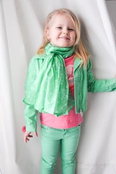 Cool Biker Blazer with matching scarf and Tight Stretch Jeans that make your little girls booty pop! - Zeeman Kids Fashion