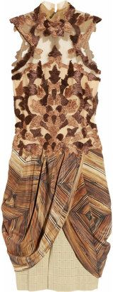 ShopStyle: Rodarte Ribbon-embroidered silk-tulle and guipure-lace dress