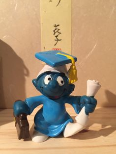 Excited to share the latest addition to my shop: Vintage Graduation Smurf Smurfette, Blue Gown, See Picture, Vintage Toys, Smurfs, All Things, Graduation, Etsy Shop, Disney Characters