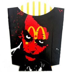 Ben Frost – Acrylic on McDonalds Fry Packages