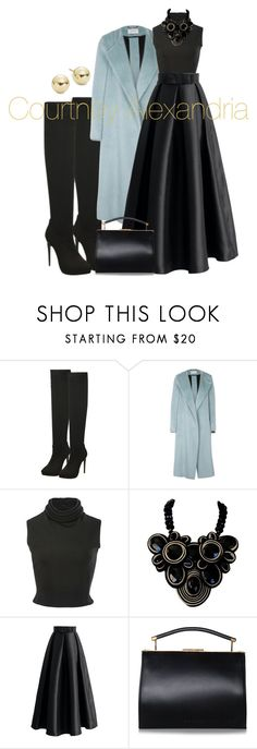 """""""Untitled #485"""" by alexandriaunique ❤ liked on Polyvore featuring Dorothee Schumacher, Brandon Maxwell, Chicwish, Handle and Lord & Taylor"""