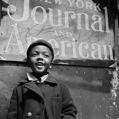 from the camera of Gordon Parks. Harlem Newsboy pocketdragn from the camera of Gordon Parks. Harlem Newsboy from the camera of Gordon Parks. Gordon Parks, Black Power, Colorized History, Colorized Photos, Photo New York, My Black Is Beautiful, Beautiful People, Beautiful Children, Amazing People