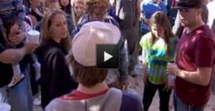 Tormented boy stands up to his bully with the help of 100 strangers from Facebook....Friday was a rare day when a kid who's been picked on confronted his bully with the support of 100 people who showed up to rally for him.