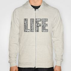 Life Hoody by Law of Attraction Art