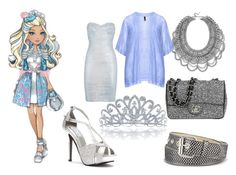 """""""Ever after high:~ darling charming"""" by ighgselected ❤ liked on Polyvore featuring BaubleBar, Hervé Léger, Bling Jewelry, Relic, Manon Baptiste, Touch Ups, Chanel, women's clothing, women and female"""
