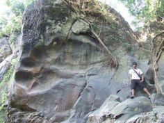 giant-footprint Furthermore, another massive footprint embedded into solid rock can be found at Bheemana Hejje near Bangalore. It is referred to as the Giant Footprint of Bheema. Image Source.