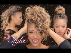 5 Easy Styles for Short Hair - YouTube