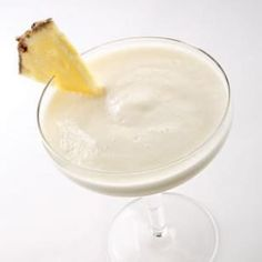 Monkeylada  If you like piña coladas, try this lower-calorie version using ripe bananas blended with fresh pineapple and coconut milk.