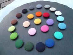 Boutons en feutrine lot de 5 boutons par happyhookstore sur Etsy