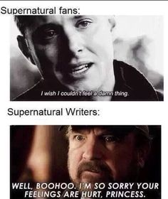 Yea thanks writers of Superntural. Try to not kill us next season please