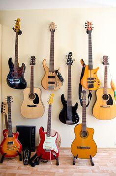 Wall of guitars - my guitars :-)