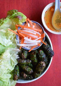 My summer grilling season includes this Vietnamese favorite: Grilled Beef in La Lot Wild Betel Leaf!