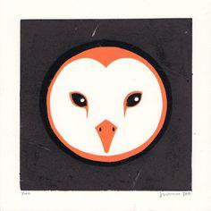 Owl #James-Brown #linocut