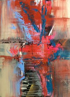 Surprise !   , Abstract Art 60x80cm // art painting // abstract painting // original painting // by Mo Tuncay