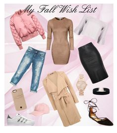 """My Fall Wish List"" by xoxogabrielleblog ❤ liked on Polyvore featuring Sans Souci, NLY Trend, Boohoo, Steve Madden, Relaxfeel, adidas Originals, Michael Kors, LuMee and Capelli New York"