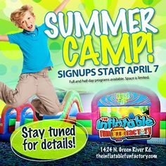 Get ready to sign your kiddos up for the BEST summer camp in the area April 7th!