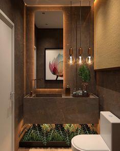 Luxurious lavabo with a beautiful composition! Bathroom Design Luxury, Bathroom Design Small, Modern Bathroom, Brown Bathroom, Interior Decorating Styles, Home Decor Trends, Decor Ideas, Decor Diy, Home Decoration