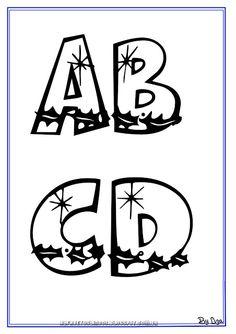 ALFABETOS LINDOS: Molde de letras para EVA com tema Natal - cartazes do alfabeto Natalino natal