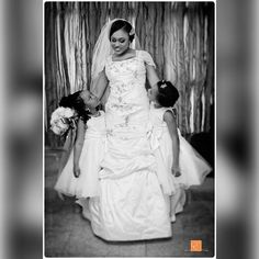 Another lovely #fun pic of Ada and her cute #flowergirls  #th  #throwback #wedding #lagoswedding #lagosweddingphotographer #eikonworld #blackandwhite #bride #lag #weddingdress #weddingday
