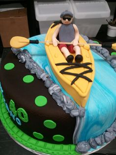 Kayak Cake by Mighty Fine Cakes, via Flickr