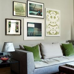 Discover stylish living room design ideas on HOUSE - design, food and travel by House & Garden. Pictures with complimentary tones to bring together the colours of this green room.