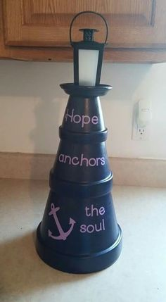 Pin by Rebecca Moeller on Clay pot lighthouse Clay Pot Projects, Clay Pot Crafts, Diy Clay, Diy Projects To Try, Flower Pot People, Clay Pot People, Flower Pot Crafts, Flower Pots, Crafts To Sell