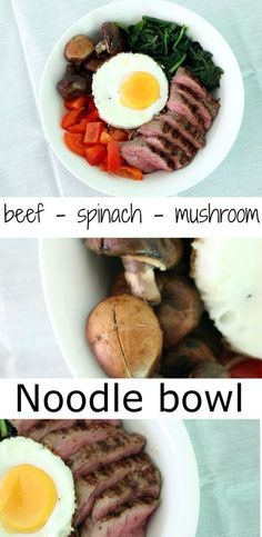 This noodle bowl with vegetables and beef is the perfect recipe for a week night meal! Eat this delicious bowl for dinner or lunch.