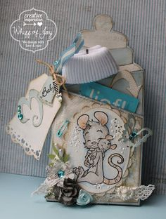 Whiff of Joy - Tutorials & Inspiration: Tutorial - Baby's bottle with a little gift