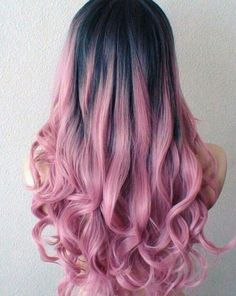 💞 Keep up with the cutest hair trends, color and how to look cute everyday! We are loving easy braids, loose curls, balayage blonde hair, and messy buns! Want to mix up your hair styles? Scroll on for cute hair ideas! Bold Hair Color, Pink Wig, Dyed Hair Pink, Pink And Black Hair, Blue Hair, Ombre Wigs, Ombre Hair Dye, Long Wavy Hair, Curly Hair