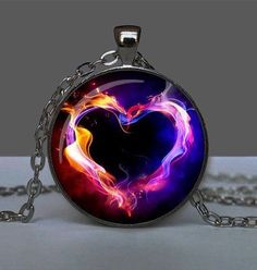 Glowing Pendant Burning Heart, Pendant Glow in the Dark, Glowing Jewelry, Glowing Necklace, Glowing Photo -- Check out the image by visiting the link. (This is an affiliate link) Cute Jewelry, Jewelry Accessories, Jewelry Design, Unique Jewelry, Jewelery, Jewelry Necklaces, Cute Necklace, Necklace Chain, Fantasy Jewelry