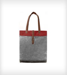 Leather & Waxed Canvas Classic Tote Bag by McLoveBuddy on Scoutmob Shoppe. This gorgeous rugged tote is just a dream.