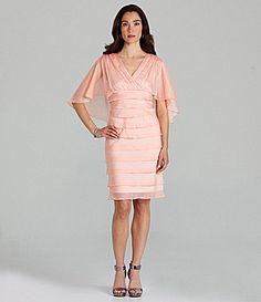 London Times Tiered Capelet Dress #Dillards