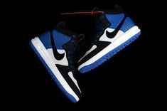 a6b53b4a8f6a Nike LUNAR FORCE 1 DUCKBOOT Fashion Shoes Men Blue White Black Mens Fashion  Shoes