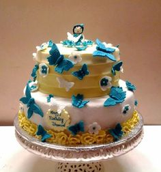 Butterflies and Flowers cake!
