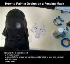 TUTORIAL: How to paint a fencing mask - Album on Imgur