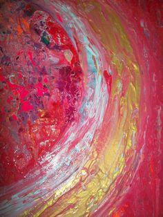 Reservados Original grande la pintura abstracta por SohoGallery