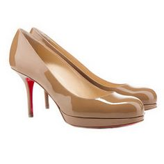Christian Louboutin Prorata 90Mm Simple Pumps Camel - now THIS is a heel height I can live with...