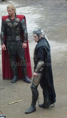 "Hemsworth and Eccleston on set of ""Thor: The Dark World"" - SO EXCITED."