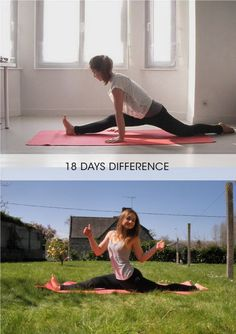 Practice! I already have my middle splits and hoping to have my left and right soon!