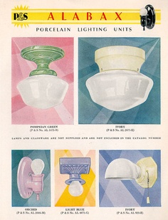 1930 Alabax porcelain sconces and ceiling fixtures
