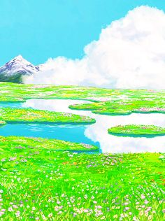 Background from Howl's Moving Castle, Proof that Hayao Miyazaki is an artist