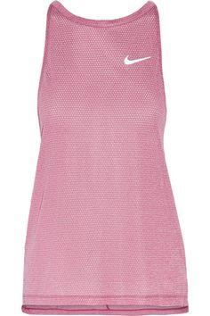 Nike - Breathe Stretch-mesh Tank - Magenta - x small