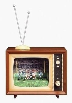 4.5'' FOOTBALL TV MUSIC BOX SHAPED LIKE RETRO TV, NEW IN BOX in Collectibles, Decorative Collectibles, Music Boxes | eBay