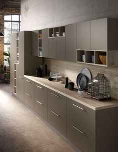 electra è la cucina di design dalle linee essenziali e funzionali ... - Componi Cucina