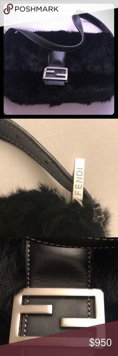 Authentic Fendi mink fur bag clutch This is authentic and in great condition! Only used a handful of times. No scratches or marks with minimal show of wear! Fendi Bags